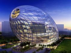The Cybertecture Egg is believed to become an iconic structure in Mumbai with its environment friendly design and intelligent control systems. The building comprises of 33,000 sq.m. of office space stacked stacked in 13 stories with highly intelligent building management systems. The diagrid exoskeleton accounts for the large column free spaces inside the egg.