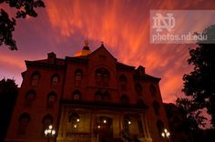 The sky over the Main Building after a clearing storm system, July 2010...Photo by Matt Cashore/University of Notre Dame
