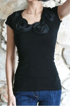 Life is Beautiful: black ruffle around me top
