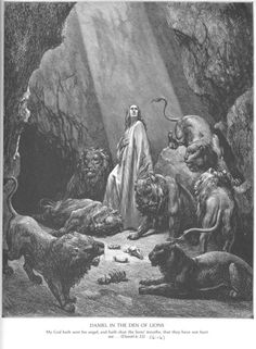 Daniel in the lion's den - Paul Gustave Dore (Bible illustrated)