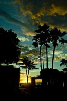 Sunset in Ka'anapali in Maui, Hawaii