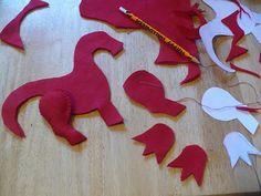 dragon pattern - The Enchanted Tree: bendy dolls