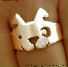 Bronze+Adjustable+animal+ring+jewelry+Cute+spot+by+RingRingRing,+$45.00