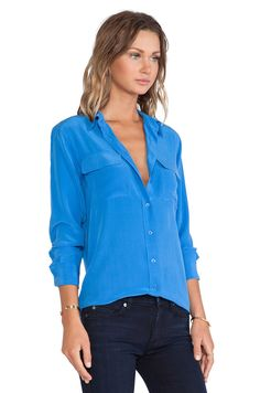 Equipment Blouse | Love the fit of Equipment silk button downs for work-not too tight-looking for any similar blouses for work at a lower price point