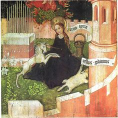 Annunciation as hunt of the unicorn by petrus.agricola, via Flickr