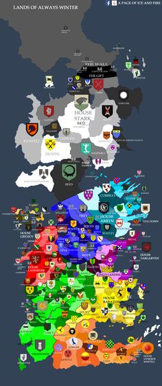 [NO SPOILERS] MAP OF ALL WESTEROS HOUSES!