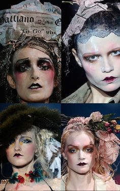 agh john galliano must come back to Dior Runway Makeup, Beauty Makeup, Hair Makeup, John Galliano, Makeup Inspo, Makeup Inspiration, Pat Mcgrath Makeup, 1920s Makeup, Art Visage