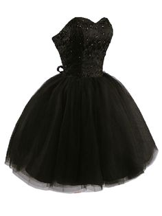 Super Super CUTE! Black Off Shoulder Beaded Party Dress with Lace Panel