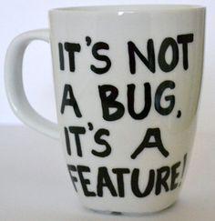 Nerd Gift Coffee Mug  Computer Geek Valentine  by DreamAndCraft, $15.00