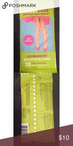 Sweet Ease Leg Waxing Kit New in Package, 20 Vanilla Strips Included Other