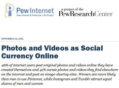 Photos and Videos as Social  Currency Online (pdf)