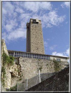 """Que voyez vous ?.... Je vous entends répondre : """"Une cheminée d'usine"""". Que nenni. Bien que cette haute curiosité soit englobée dans une usine, cette construction est l'un des vestiges du château féodal de  Boucoiran dans le Gard. La vieille tour défensive a été recyclée en zone de test pour les plombs de chasse."""