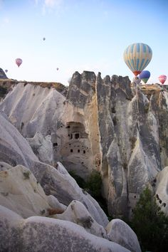 So they have carved-out cave dwellings AND hot air balloons in Cappadocia? I want to go!