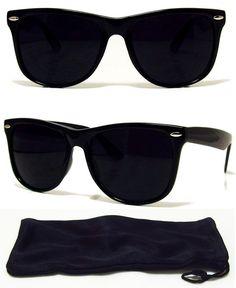 7350e588a80 Dark BLACK Lens Sunglasses Vintage Retro Aviator Men Women Classic Frame  Glasses  HDSunglasses  Square