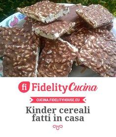 Kinder cereali fatti in casa