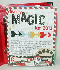 Disney Album using SN@P/Simple Stories via Kim Holmes