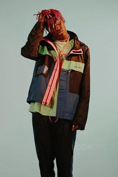 Lil Yachty wearing  Urban Outfitters Nautica Color Block Jacket
