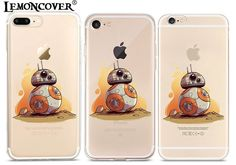 Film Star Wars Phone Cases For iPhone 6 6s 7 Plus Silicone Darth Vader Movie Back Cover Yoda R2D2 Soft Shell Cartoon Soldier 3D