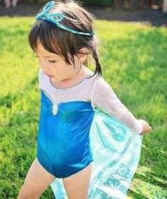 DoC McStuFFiNs~1 PC~SWIM SUIT with FLOWERS~Girls~NWT~Disney Store STAMP