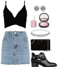 Class to Night Out: Denim Mini Skirt. Say hello to this middle school throwback!