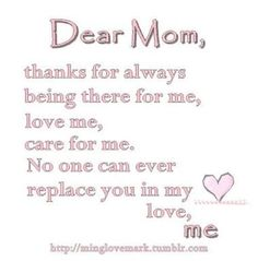 image result for thank you mom quotes from daughter mother pinterest