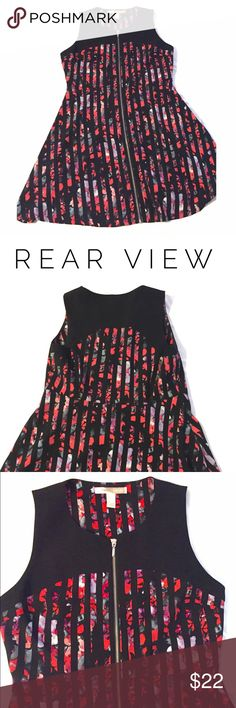 """listing Forever 21 Sleeveless Dress Nice sleeveless dress from Forever 21.  Has a nice weight to the fabric. Zip front.  Armpit to armpit 19"""" length 35"""" 100% polyester.  Perfect for an evening out! Forever 21 Dresses"""