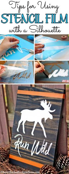 Tips for Using Stencil Film with a Silhouette   Where The Smiles Have Been