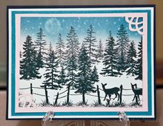 stampscapes winter scene--looks like something my mom would love @Karen Jacot Jacot Jacot Jacot Jacot Rogness