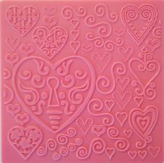 Hearts Texture Plates by Creaticca Studio. Use them on pewter, creative craft metal, paper, clay and walls. Available at Creaticca Studio. 12.5 x 12.5cm.  Available at www.creaticcastudio.co.za