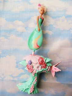 Vintage 90s Sky Dancer Doll Toy, had this EXACT one!,, just got a lump in my throat!
