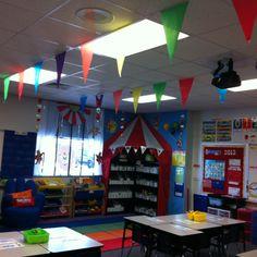 Circus theme for classroom....Ikea has the circus tent thing...@Sherrie Bowe-Hernandez Bowe-Hernandez Bowe-Hernandez Price