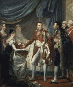Rouget - Napoléon Ier présente le roi de Rome aux dignitaires de l'Empire, 20 mars 1811