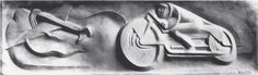 Relief for the monument to Edouard Grammont 1931