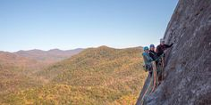 Rock climb, ice climb, and mountaineer in North Carolina's Pisgah National Forest