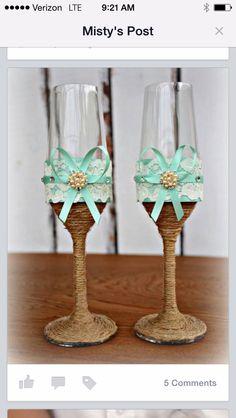 Bride&groom glasses