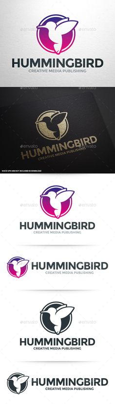 Humming Bird Logo Template #vector #logodesign for many kinds of business, software and projects. Buy this logo at #graphicriver