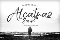 Alcatraz Script #fonts #font #script #brush #handwritten #download #type #graphic #design #print #cursive #calligraphy #vintage #typography #modern #digital #handwriting #handlettered #handlettering #typedesign #typeface #artoftype #handmadefont #brushtype