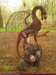 cool garden sculpture