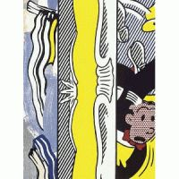 Roy Lichtenstein  Title: Two paintings - Dagwood  Medium: woodcut and lithograph  Size: 136 x 98 cm  Edition: 60  Year: 1984