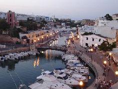 Panorámica de Ciutadella de Menorca, Islas Baleares.