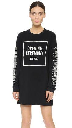 Opening Ceremony Bar Code Dress