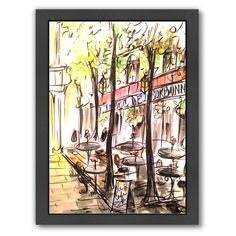 Found it at AllModern - Paris Cafe by Cara Francis Framed Original Painting
