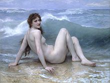 off Hand made oil painting reproduction of La Vague (The Wave), one of the most famous paintings by William-Adolphe Bouguereau. The painter William-Adolphe Bouguereau concluded the artwork entitled La Vague, also known as Th. William Adolphe Bouguereau, Munier, Henri Rousseau, Oil Painting Reproductions, Les Oeuvres, Art History, Oil On Canvas, Art Gallery, Illustrations