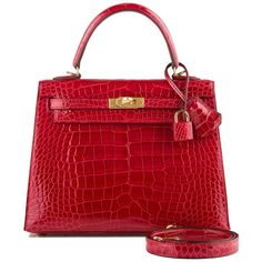 Hermes Braise Kelly in shiny alligator with gold hardware in new or never worn condition with plastic on hardware. Shop authentic Hermes exotic handbags at Madison Avenue Couture. Hermes Bags, Hermes Handbags, Satchel Handbags, Fashion Handbags, Purses And Handbags, Leather Handbags, Bvlgari Handbags, Fall Handbags, Cute Handbags