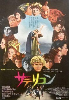 FELLINI SATYRICON Original Japanese Movie Poster Federico Fellini-