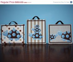 SALE Set of 3 Mod Turtle Baby Boy Nursery 8x10 Art by ToadAndLily, $48.00