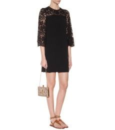 Dolce & Gabbana - Lace-trimmed crepe dress - mytheresa.com GmbH