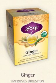 Love Yogi teas.  The Ginger and the Peach Detox are my faves so far.