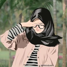 Btw, this is my creation, haha😂 Cartoon Sketches, Cartoon Art, Cartoon Memes, Cartoon Characters, Girl Cartoon, Cartoons, Hijab Drawing, Islamic Cartoon, Hijab Cartoon