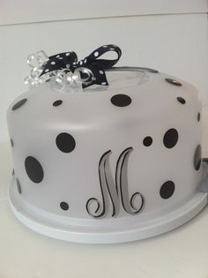 Personalized Cake Carrier by PolkaDotPeacockShop on Etsy $22.00 | Polka Dot Peacock | Pinterest | Cake carrier and Cricut & Personalized Cake Carrier by PolkaDotPeacockShop on Etsy $22.00 ...